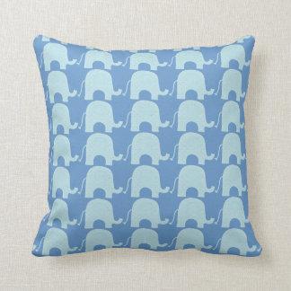 De blauwe Omkeerbare Olifant werpt Hoofdkussen Sierkussen