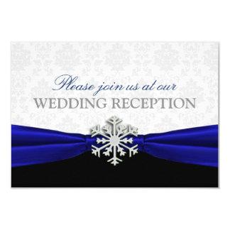 De blauwe Ontvangst van het Huwelijk van de Winter 8,9x12,7 Uitnodiging Kaart