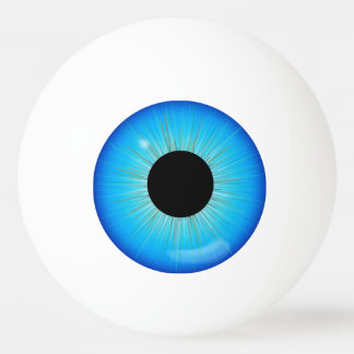 De blauwe Oogappel van de Iris Pingpongballetjes