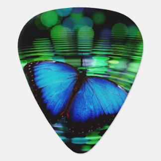 De blauwe Oogst van de Gitaar van de Vlinder Gitaar Plectrum 0