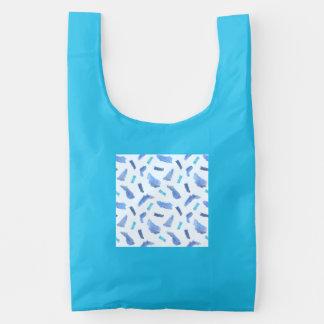 De blauwe Opnieuw te gebruiken Zak van de Vlekken Herbruikbare Tas