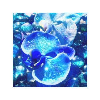 De blauwe Orchideeën van de Diamant Gallerij Wrap Canvas
