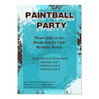 De blauwe Partij Paintball nodigt uit Kaart