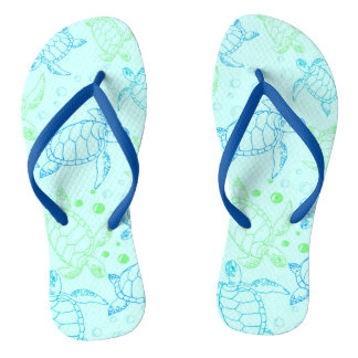 De blauwe Riemen van de Lagune van Schildpadden Teenslippers