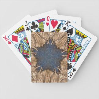 De blauwe Rieten Achtergrond van de Ster van de Poker Kaarten