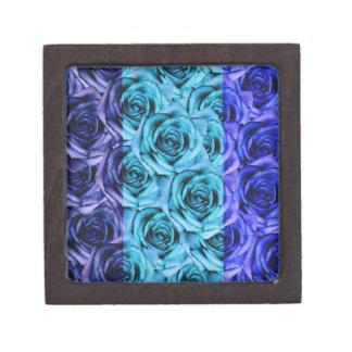 De blauwe Rozen ontwerpen de Kleine Doos van de Premium Decoratiedoosjes