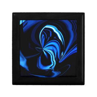 De blauwe Samenvatting van de Vlinder Decoratiedoosje