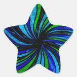 De blauwe Samenvatting van het Limoen - Al wegenlo Stervormige Stickers