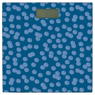 De blauwe Schaal van de Badkamers van Stippen Personenweegschaal