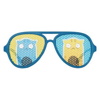 De blauwe Schaduwen van de Partij van de Kat van Aviator Zonnebril