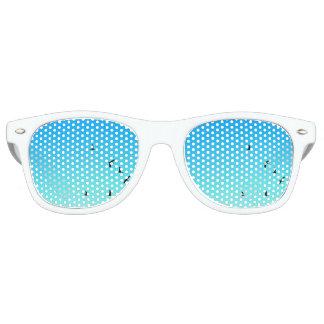 de blauwe schaduwen van de vogelspartij retro zonnebril