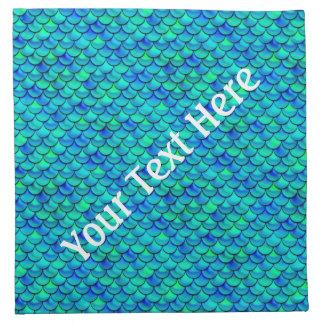 De Blauwe Schalen van Aqua van Falln Katoenen Servet