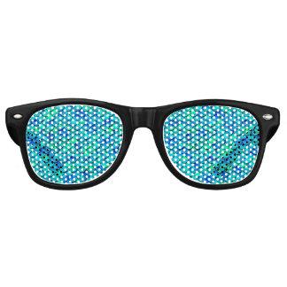 De Blauwe Schalen van Aqua van Falln Retro Zonnebril