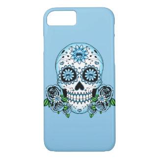 De blauwe Schedel van de Suiker iPhone 8/7 Hoesje
