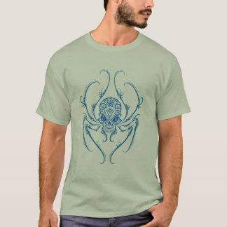 (De blauwe) Schedel van de Suiker van de spin T Shirt