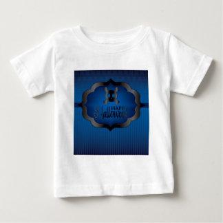 De blauwe schedel van Halloween Baby T Shirts