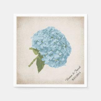 De blauwe Servetten van het Huwelijk van de Douane Papieren Servetten