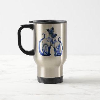 De blauwe Siamese Katten van de Wilg Reisbeker