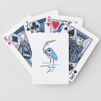 De blauwe Speelkaarten van de Reiger Bicycle Speelkaarten