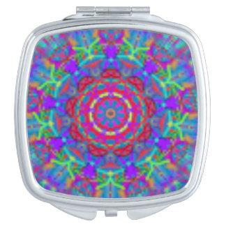 De blauwe Spiegel van de Zak van Mandala van het Make-up Spiegeltje