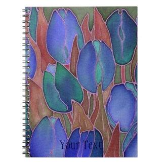 De blauwe Spiraal van Tulpen - het verbindende Ringband Notitieboek