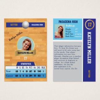 De blauwe Sporten die van het Volleyball Kaart met Visitekaartjes