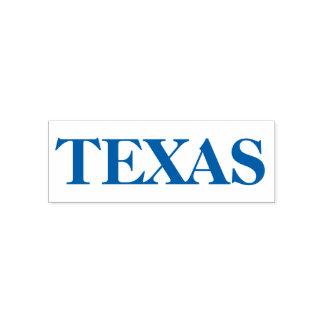 De blauwe Staat van Texas Genoemd Rubber Zelf Zelfinktende Stempel
