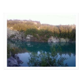 De Blauwe Steengroeve van Vermont Briefkaart