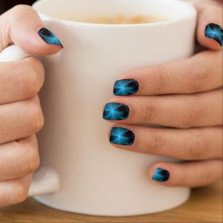 De blauwe Ster glanst Minx Spijkers Minx Nail Art