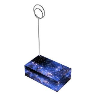 De Blauwe Sterren Embrionic van Falln Plaatskaart Houder