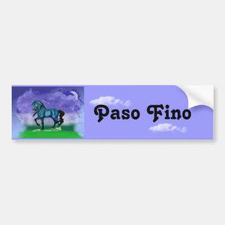 De blauwe Sticker van de Bumper van het Paard van