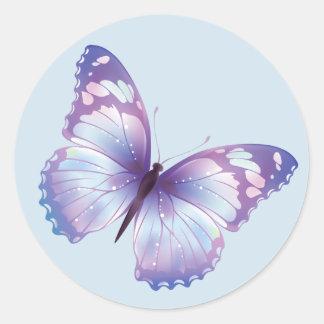 De blauwe Sticker van de Vlinder