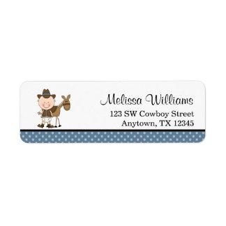 De Blauwe Stippen van weinig Cowboy Etiket