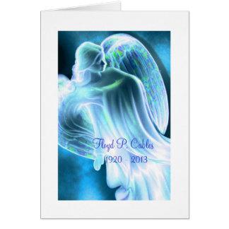 De blauwe Sympathie van de Engel dankt u kaardt Briefkaarten 0