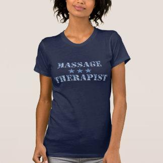 De blauwe T-shirt van de Therapeut van de Massage