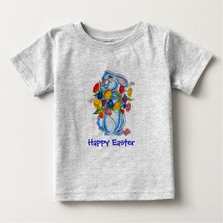 De blauwe T-shirt van Pasen van het Konijntje voor