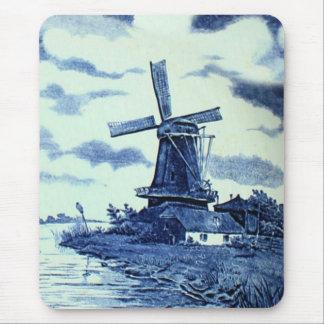De Blauwe Tegel van vintage Antiek Delft - Muismat