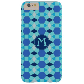 De blauwe tegels van het monogram 6/6s barely there iPhone 6 plus hoesje