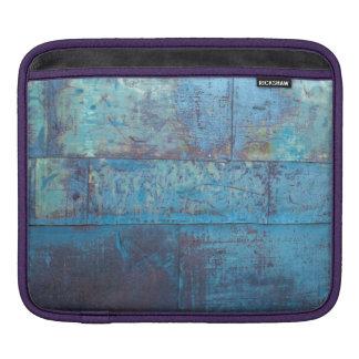 De blauwe Textuur van de Muur van het Metaal   Sleeve Voor iPad