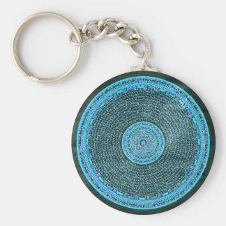 De blauwe Tibetan Kunst Mandala van de Brand Sleutelhanger