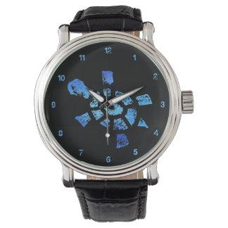 De blauwe Tijd van de Schildpad van het Water Horloges
