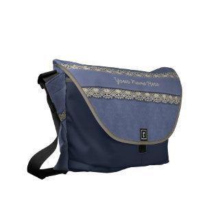 De Blauwe Toon van het damast op Toon Schooltassen