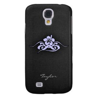 De Blauwe Tropische Hibiscus van de lavendel Galaxy S4 Hoesje