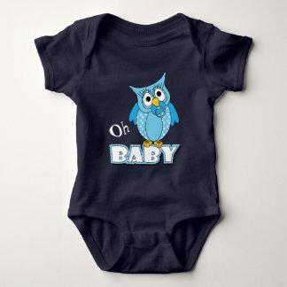 De blauwe Uil van het Baby van de Stip Romper