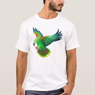 De blauwe Uitgezien op T-shirt van de Papegaai van