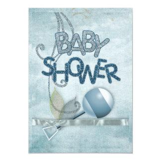 De blauwe Uitnodiging van Babyshower van de
