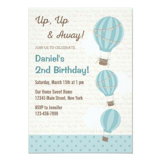 (De Blauwe) Uitnodiging van de Verjaardag van de 12,7x17,8 Uitnodiging Kaart