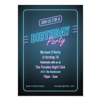 De blauwe Uitnodiging van de Verjaardag van het
