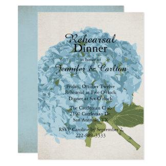 De blauwe Uitnodiging van het Diner van de