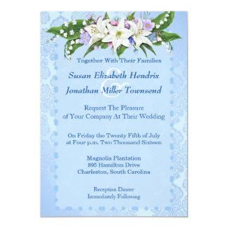 De blauwe Uitnodiging van het Huwelijk van de